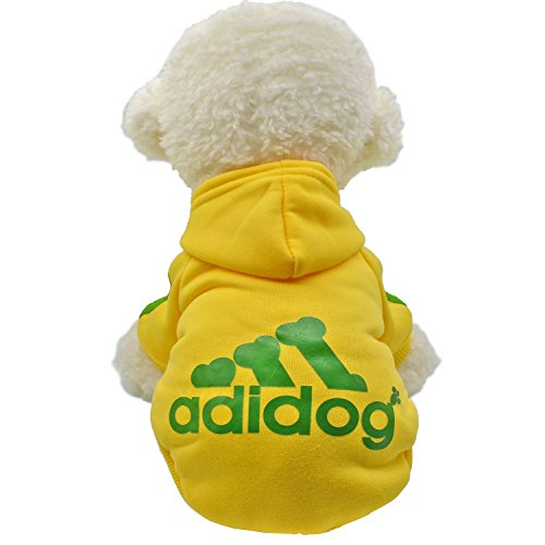 Asir house Pet Dog Yorkie Chihuahua Soft Cotton Winter Thickening Warm Clothing A7 (M, - Winter Clothing Dog