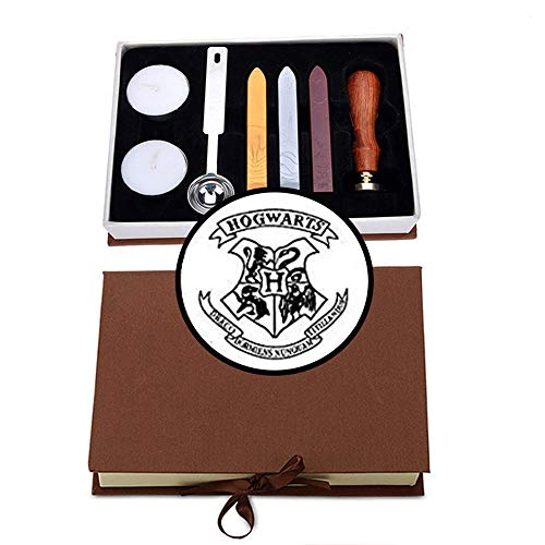 VIYOUNG Hogwarts Magic School Badge Wax Seal Stamp Kit Creative Mysterious Retro Stamp Maker Kit Great for Gift HP Fans Birthday Christmas Hogwarts Themed Party (Hogwarts#1)