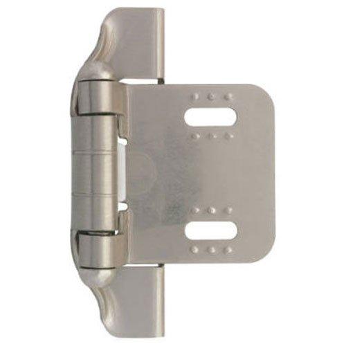 Liberty H01911L-SN-U 1/4-Inch Semi-Wrap Overlay Hinge, 2-Pack (Hinge Semi Overlay Wrap)