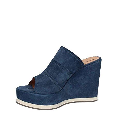 Maritan 660180 Wedge Sandals Women Blue mzIM4YRA2a