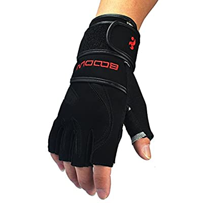 Kungken Weight Lifting Gloves With Pigskin Palms And Wrist Wrap Provide Support For Gym, Workout, Crossfit, Fitness, Kettlebell, WOD, Cross Training