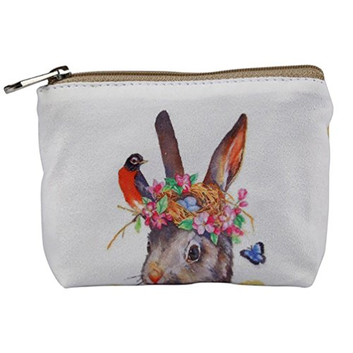 Small Purses Wallet Zipper Iron Rabbitandbird Cartoon Handbag Purse Canvas Wallet Butterfly Women Ladies Coin nPwdq66I