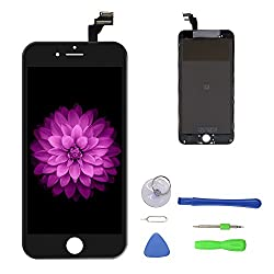 "Iphone 6 Plus Screen Replacement Black, Lcd Display & Touch Screen Digitizer Frame Cell Assembly Set With Free Repair Tool For Iphone 6 Plus 5.5"" Black"