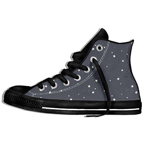 Classiche Sneakers Alte Scarpe Di Tela Anti-skid Star Casual Da Passeggio Per Uomo Donna Nero