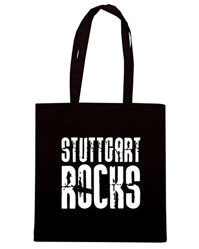 T-Shirtshock - Bolsa para la compra OLDENG00666 stuttgart rocks tshirt Negro