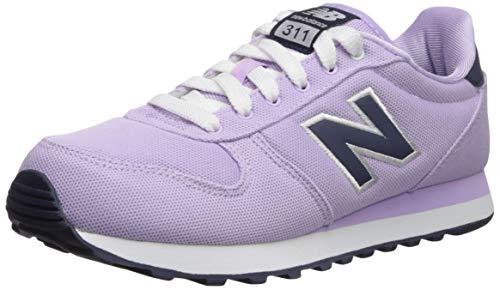 (New Balance Women's 311v1 Sneaker, Violet glo/Nubuck Navy, 8.5 D US)