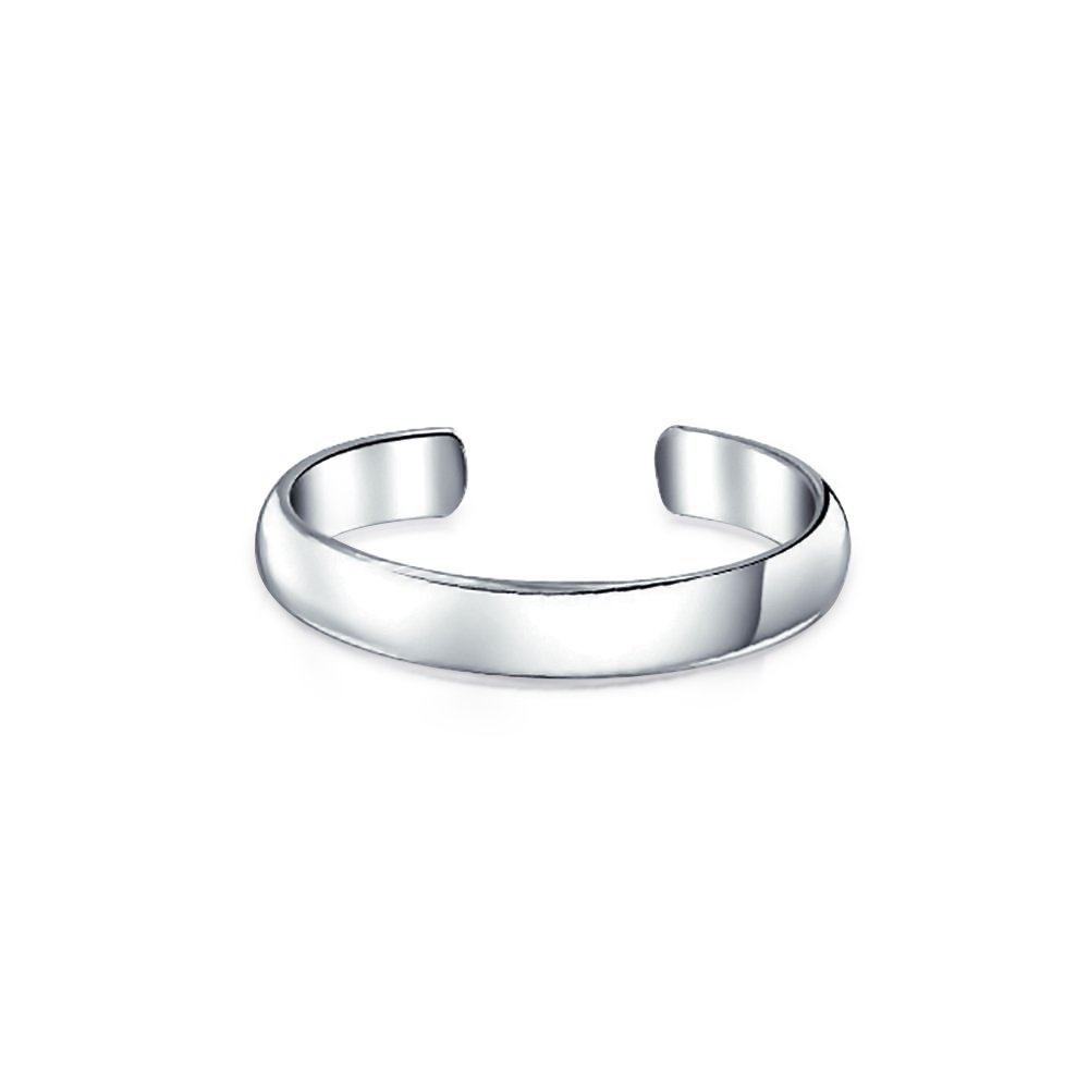 Bling Jewelry Classic Sterling Silver Band Toe Ring Adjustable Midi Rings PMR-R11774ED