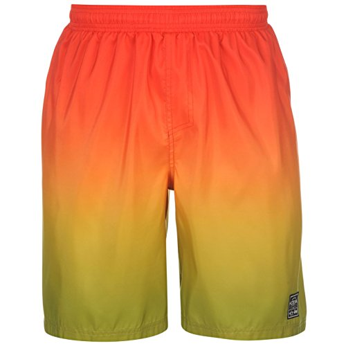 Hot Tuna Hombre Gradient Tablero Shorts Pantalones Cortos Ropa Vestir Casual Naranja/Rojo