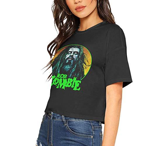 Womans Rob Zombie Music Band Bare Midriff T-Shirt Tennis Midriff-Baring Tee M Black