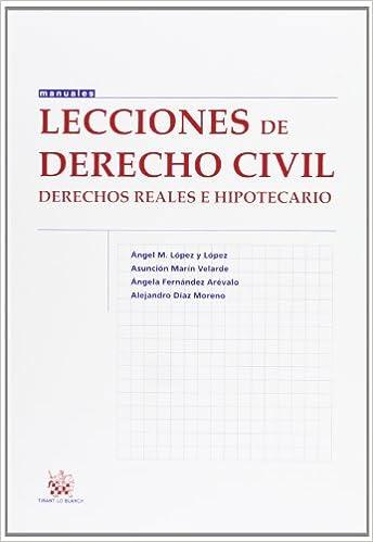 Lecciones de Derecho civil Derechos reales e hipotecario Manual de Derecho Civil y Mercantil: Amazon.es: Ángela Fernández Arévalo: Libros