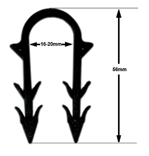 100 Stk Beutel Tackernadeln 50mm Nadeln Fu/ßbodenheizung Rohrhalter Tackerklammern