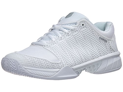 K-Swiss Women's Hypercourt Express Tennis Shoe (White/Highrise, 7.5 M US)