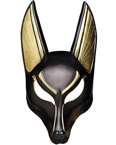 Jackal Halloween Mask (Fun World Men's Anubis Mask Adult, Multi,)