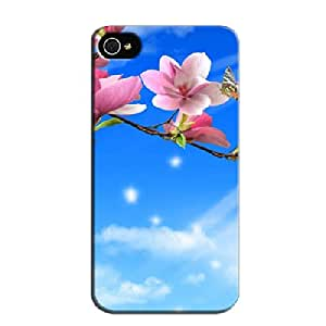 Summer TPU Textures For Iphone 4/4s Dustproof Navy Protective Case