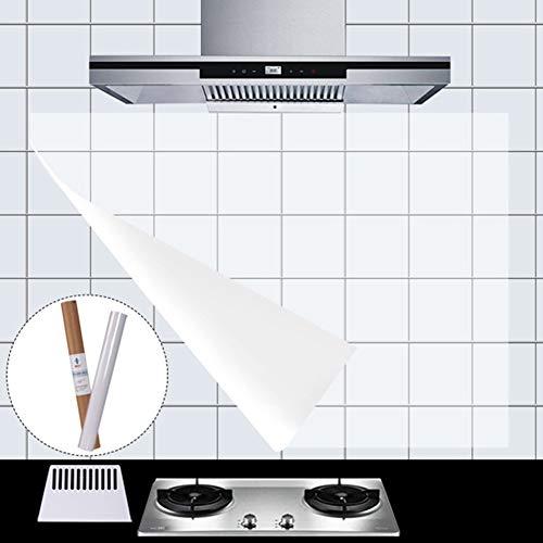 HaloVa Kitchen Backsplash Wallpaper Stickers Waterproof Oilproof High Temperature Resistant Transparent Environment-Friendly PVC, 23''x35'' 6pcs by HaloVa (Image #3)