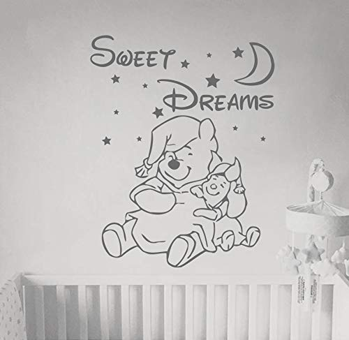 Winnie The Pooh Wall Decal Quote Wall Decal Pooh Art Nursery Wall Decal Winnie The Pooh Stickers Baby Decor Kids Room Wall Art and Stick Wall Decals
