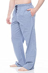 Men's Cotton Light weight woven Pajama Pant with pockets