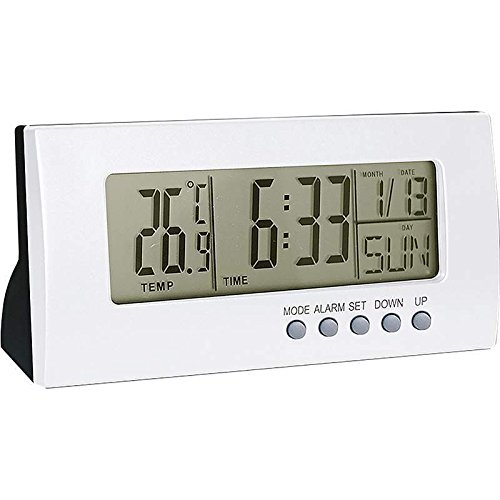 New Light Silver Color Home Office Desk Digital ALARM CLOCK Calendar - Shop Desk Calendars