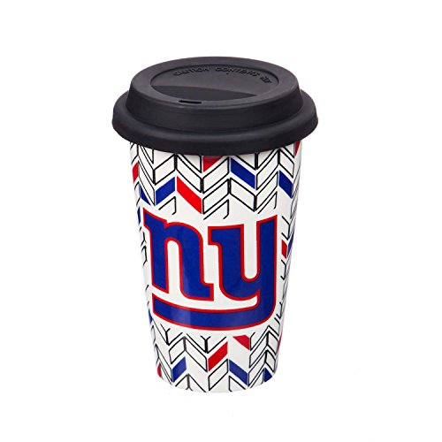 Team Sports America 3TML3820 New York Giants Chevron Travel Cup, White