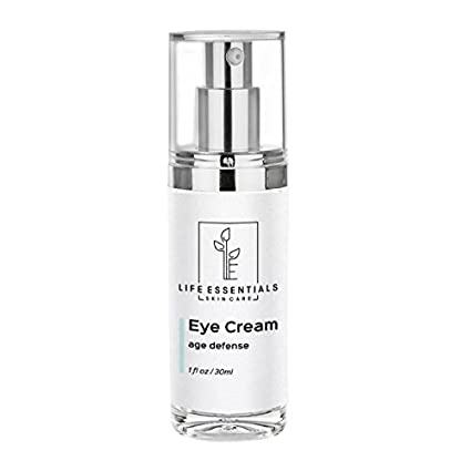 Eye Cream For Dark Circles, Puffiness, Bags & Wrinkles - 1 OZ - Best Under Eye Moisturizer & Treatment - Natural & Organic Anti Aging Formula For Crows Feet & Fine Lines - Satisfaction Guarantee - Cruelty Free Life Essentials Skin Care LE-1