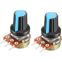uxcell Single Turn Rotary Carbon Film Taper Potentiometer with Knob