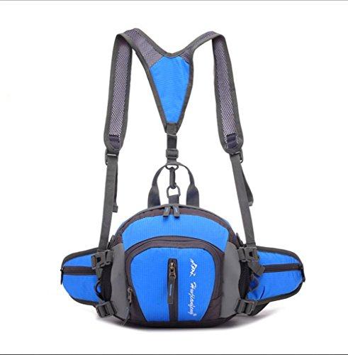 BUSL Bolsillos multifunción de deportes al aire libre hombres NYLON impermeabilizan deportes . green Blue