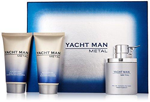 Myrurgia Yacht Man Metal Gift Set for Men (Eau de Toilette, Shower Gel, After Shave Balm)