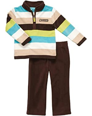Carter's Baby Boy's Infant Two Piece Fleece Pant Set - Multi Stripes