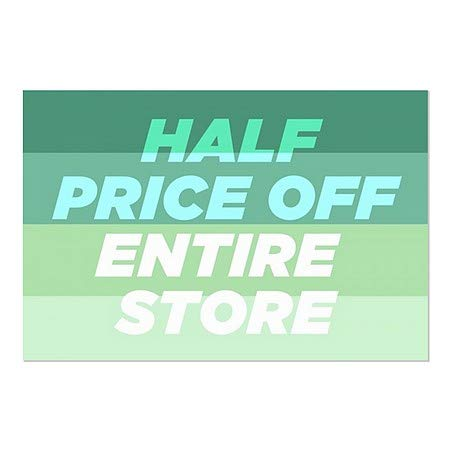 Half Price Off Entire Store 5-Pack CGSignLab Modern Gradient Window Cling 27x18