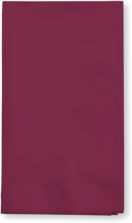 Creative Converting Touch of Color 2-Ply 50 Count Paper Dinner Napkins, Burgundy