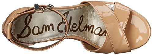 Sam Edelman Sandalias de cuña de la mujer Brenda Alpargata Almond Patent