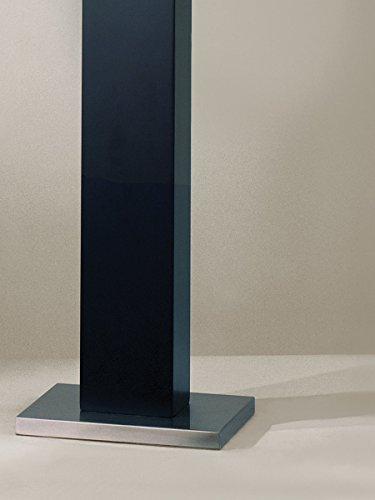 Nova Lighting Half Moon Floor Lamp, Dark Brown/Silver/Etruscan Gold