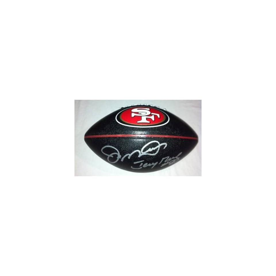 JOE MONTANA & JERRY RICE Hand Signed Autographed Fullsize 49ers