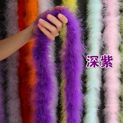 Maslin 5pcs 20g Marabou Feather Boas Purple Color Dyed DIY Turkey Feather Scarfs Diameter appro. 8-10cm - (Color: Purple)