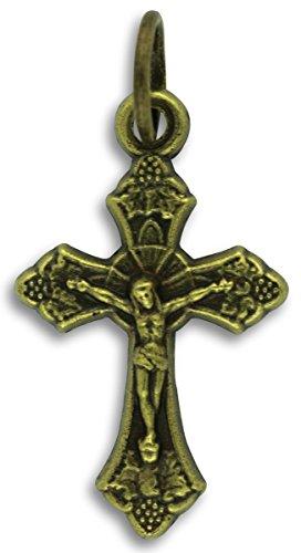 LOT of 10 -Small Leaf Sunburst Crucifix - 1