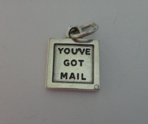 Sterling Silver 13x13mm says You've Got Mail Computer Laptop Monitor Charm