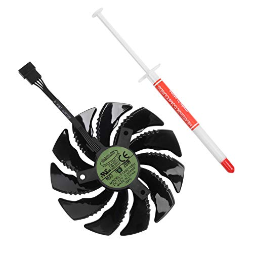 Li-SUN 88mm 4-Pin Graphics Card Cooler Cooling Fan Replacement with Thermal  Grease for Gigabyte GTX 1050 1060 1070 Ti/ RX 470 480 570 580 (P/N: