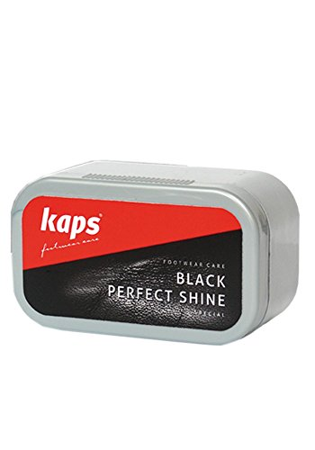 Shoe Polish Sponge Gives Instant Gloss, Kaps Black Perfect Shine, chose from 3 Colors (Black)