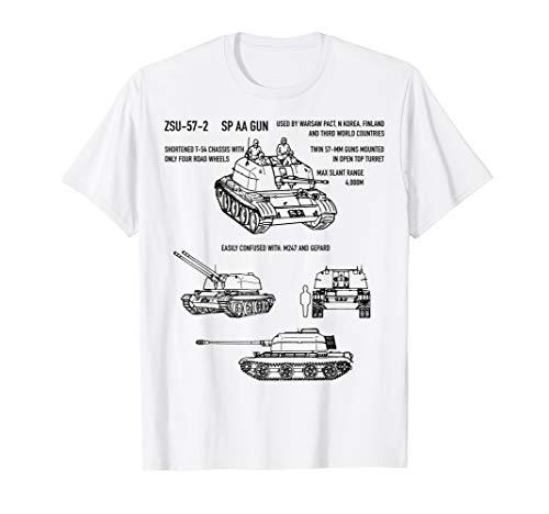 ZSU-57-2 Soviet Russian Anti-Aircraft Gun SPAAG T-Shirt -