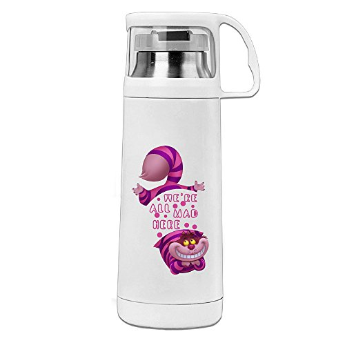 [HAULKOO Alice In Wonderland Cheshire Cat We Stainless Steel Traveling Cup] (Pirate Cat Costume Video)