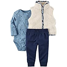 Carter's Baby Boys' 3 Piece Plaid Trim Little Vest Set