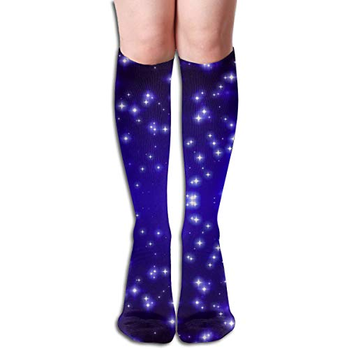 XZX2018 Stylish Seamless Tumblr Backgrounds Stars Knee High Socks Flat Knit High Thigh Stockings School Daily Womens