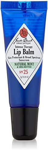 Jack Black Intense Therapy Lip Balm SPF 25, Natural Mint & Shea Butter, 0.25 oz.