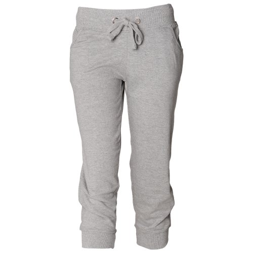 Skinni Fit Ladies/Womens Skinnifitness 3/4 Jog Pants / Jogging Bottoms (M) (Heather Grey)