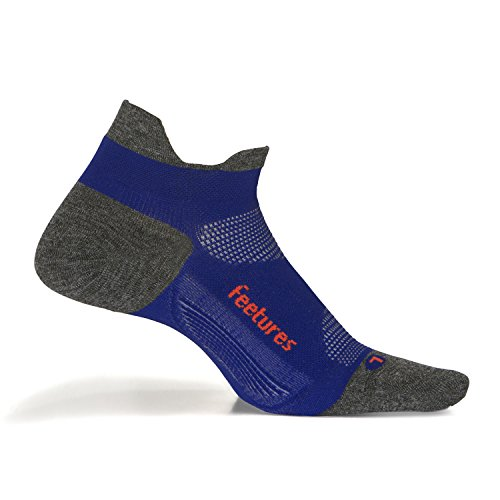 Feetures - Elite Ultra Light - No Show Tab - Athletic Running Socks for Men and Women - Power Purple - Size Small -