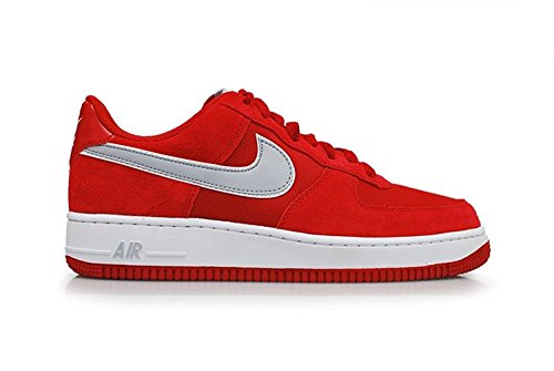 Nike Air Force 1 Heren Sneakers 488298 Sneakers Schoenen Gym Rood Wolf Grijs Wit 623