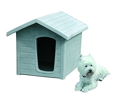 Linda 2 Zinc 57 x 74 x 55 Caseta para perros de exterior efecto madera: Amazon.es: Productos para mascotas