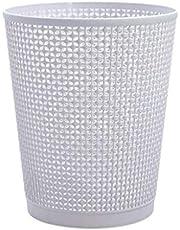 YWSZJ La Basura de plástico Puede, de Portada Papelera, Basura de la Cocina de Can Baño de residuos de Papel Bin Hogar Hotel de la Oficina (Color : Gray)