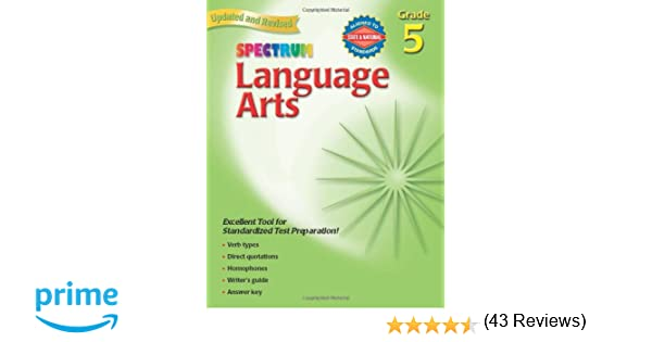 Amazon.com: Spectrum Language Arts, Grade 5 (0087577930053 ...
