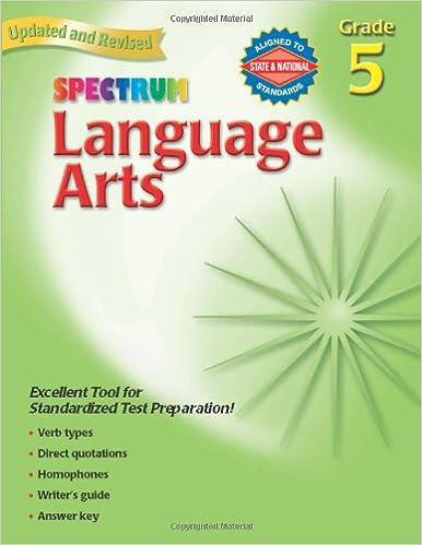 Amazon.com: Language Arts, Grade 5 (Spectrum) (0087577930053 ...